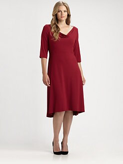 Eileen Fisher, Salon Z - Draped-Neck Dress