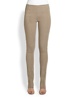 Donna Karan - Pull-On Stretch Linen Pants
