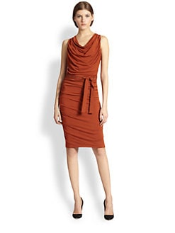 Donna Karan - Belted Draped Dress