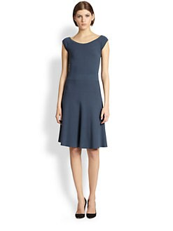 Donna Karan - Cap-Sleeve Fit-And-Flare Dress
