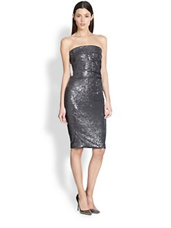 Donna Karan - Sequin Strapless Dress