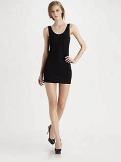 Donna Karan - Refined Matte Jersey Scoopneck Dress