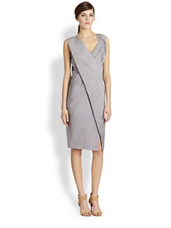 Donna Karan - Asymmetrical Draped-Fold Dress