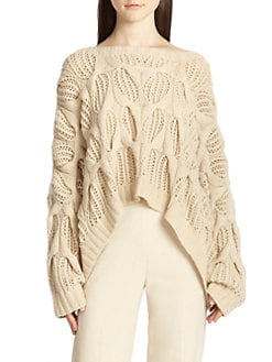 Donna Karan - Oversized Open-Knit Cashmere Sweater