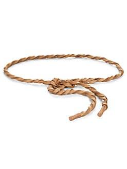 Donna Karan - Twisted Leather Wrap Belt