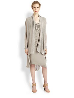 Donna Karan - Ribbon Jersey Cozy Cardigan