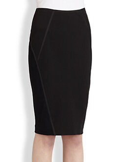 Donna Karan - Tape Trim Pencil Skirt