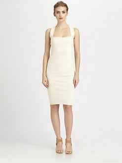 Donna Karan - Spiral Seamed Sheath Dress