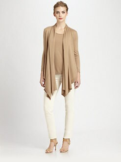 Donna Karan - Drape-Front Cozy Cardigan