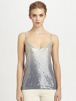 Donna Karan - Cashmere Ombr&eacute; Sequined Tank