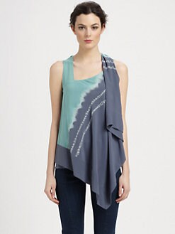 Donna Karan - Sleeveless Stretch Silk Top