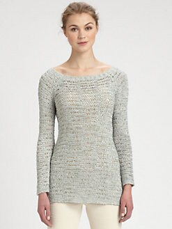Donna Karan - Wide-Neck Silk Sweater