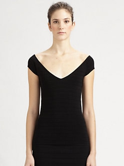 Donna Karan - Cap-Sleeve Top