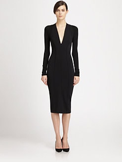 Donna Karan - Paneled Stretch Jersey Dress