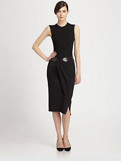 Donna Karan - Paneled Stretch Jersey Bodysuit