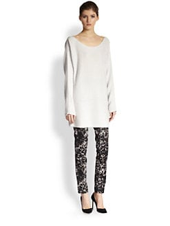 Donna Karan - Long Silk & Cashmere Sweater