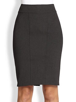 Donna Karan - Asymmetrical-Paneled Pencil Skirt