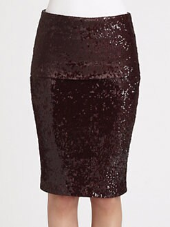 Donna Karan - Sequined Fold-Over Skirt