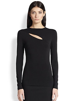 Donna Karan - Slash Stretch Knit Top