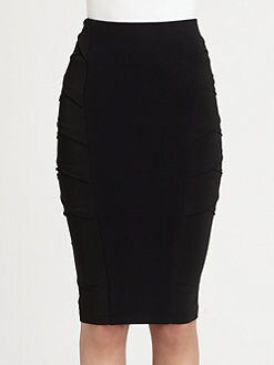 Donna Karan - Crossover-Paneled Stretch Jersey Pencil Skirt