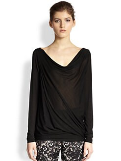 Donna Karan - Draped Lightweight Jersey Tunic