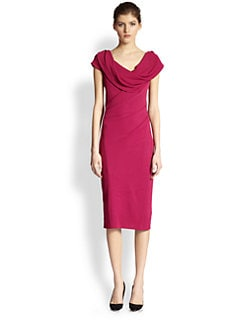 Donna Karan - Draped-Neck Dress