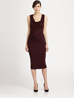 Donna Karan - Asymmetrical Draped Stretch Jersey Dress