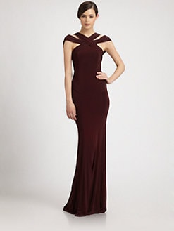 Donna Karan - Crossover Crepe Gown