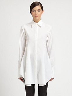 Donna Karan - Flared Stretch Cotton Tunic