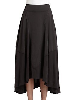 Donna Karan - Sheer-Paneled Brushed Jersey Skirt