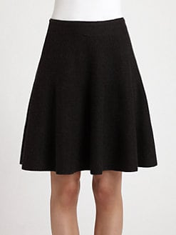 Donna Karan - Wool & Cashmere Flared Skirt