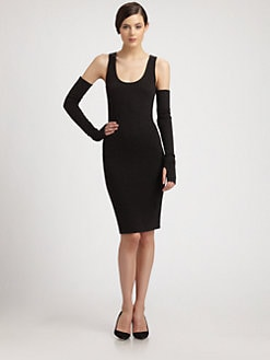 Donna Karan - Merino Wool & Cashmere Body-Con Dress