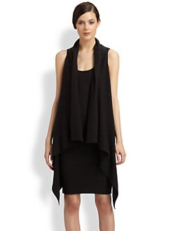 Donna Karan - Draped Cashmere Vest