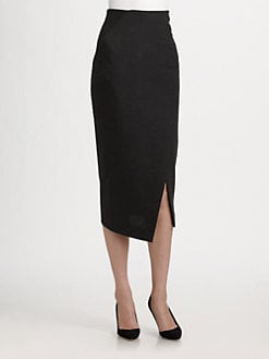 Donna Karan - Long Faux-Wrap Skirt