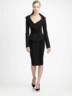 Donna Karan - Jersey Off-The-Shoulder Jacket