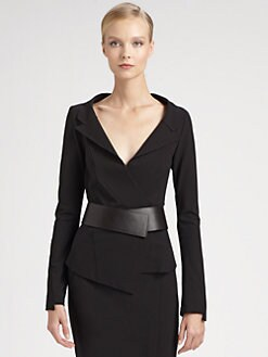 Donna Karan - Belted Envelope Jacket