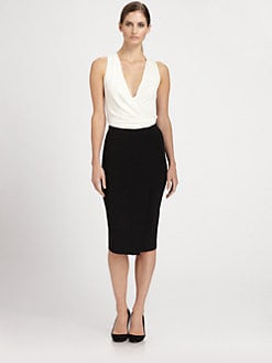 Donna Karan - Wrap-Front Shell