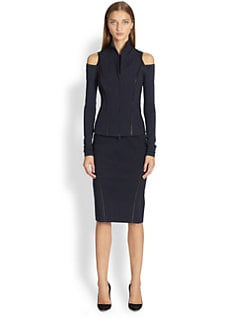 Donna Karan - Leather-Trimmed Vest