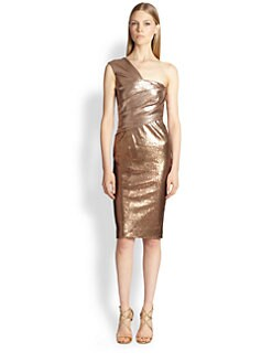 Donna Karan - One-Shoulder Ombré Cocktail Dress