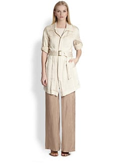 Donna Karan - Belted Trench Shirt