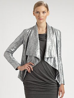 Donna Karan - Sequined Jersey Jacket