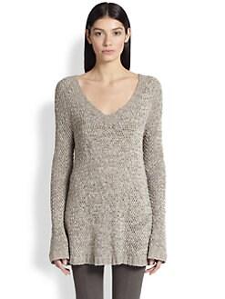 Donna Karan - Silk V-Neck Sweater