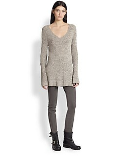 Donna Karan - Silk V-Neck Sweater