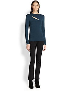 Donna Karan - Long-Sleeve Slash Top
