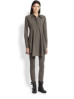 Donna Karan - Stretch Poplin Easy Shirt
