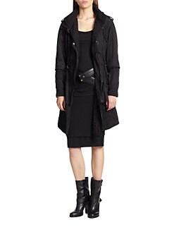Donna Karan - Quilted Two-In-One Techno Jacket