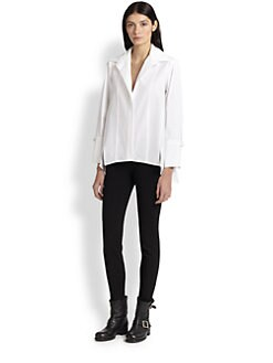 Donna Karan - Collared Cotton Poplin Shirt