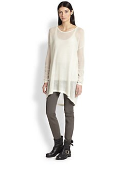 Donna Karan - Easy Long-Sleeve Cashmere Top