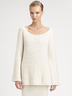 Donna Karan - Cashmere-Blend Boucle Sweater