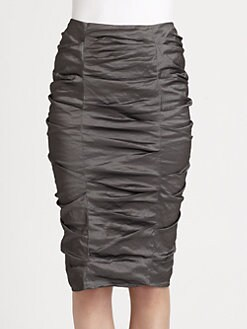 Donna Karan - Crushed Pencil Skirt